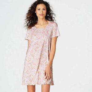 J.Jill Sleep Ultrasoft Ruffle-Trimmed Gown NWT